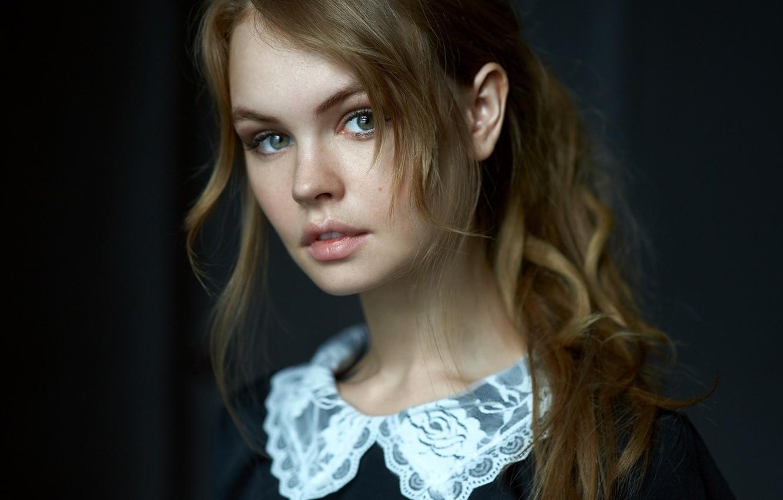 Photo wallpaper look, girl, face, sweetheart, model, hair, lips, beautiful, the beauty, Rus, Anastasia Shcheglova, Anastasia Shcheglova