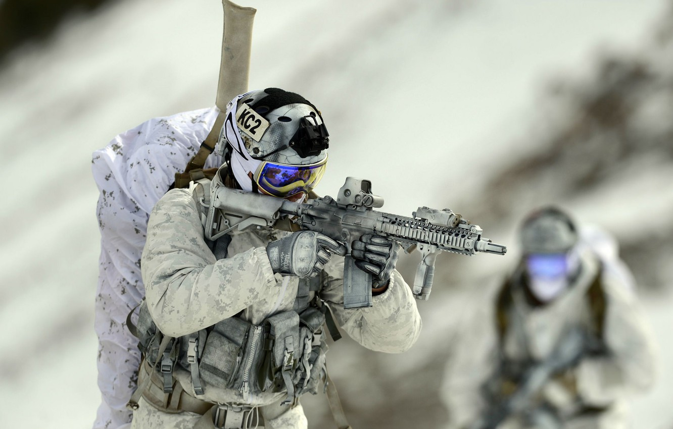 Photo wallpaper weapons, army, soldiers, United States Navy SEALs