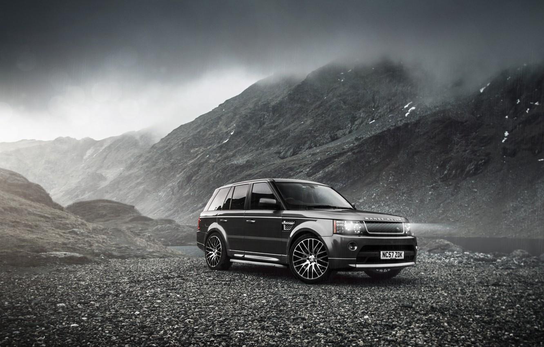 Photo wallpaper lights, black, land rover, auto, landscape, romania, range rover