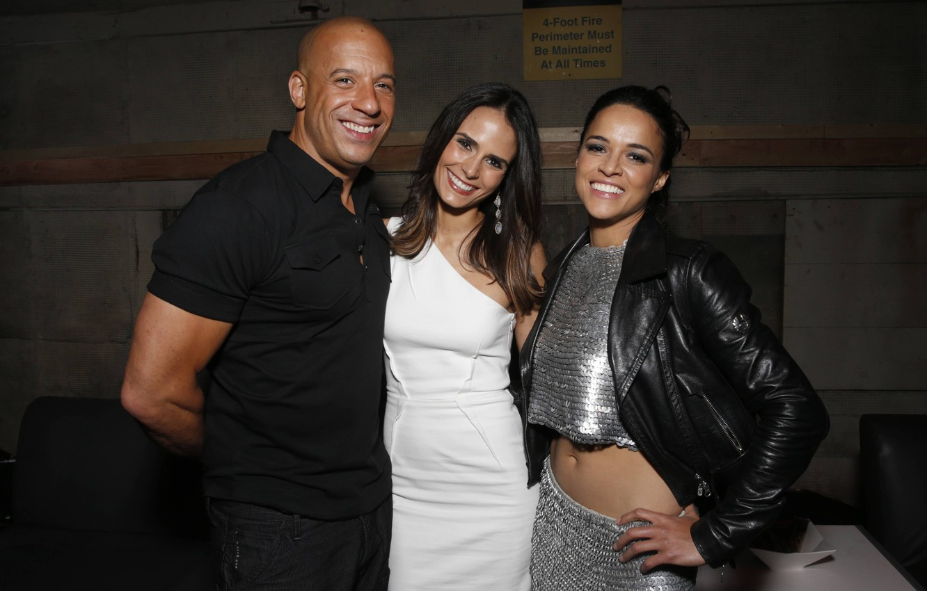 Photo wallpaper VIN Diesel, Jordana Brewster, Michelle Rodriguez, Fast and furious 6, Furious 6