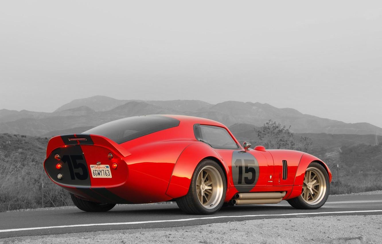 Photo wallpaper Shelby, Coupe, Cobra, Daytona, Shelby Cobra Daytona Coupe, 1964-1965, Red car