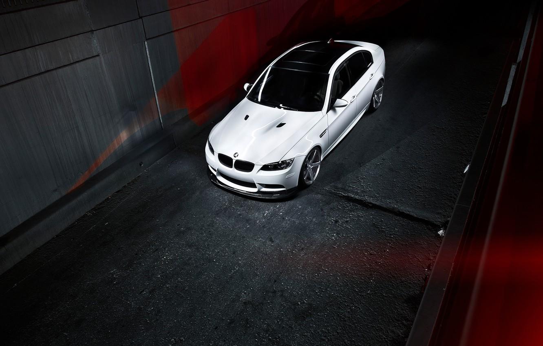 Photo wallpaper BMW, BMW, white, white, the dark background