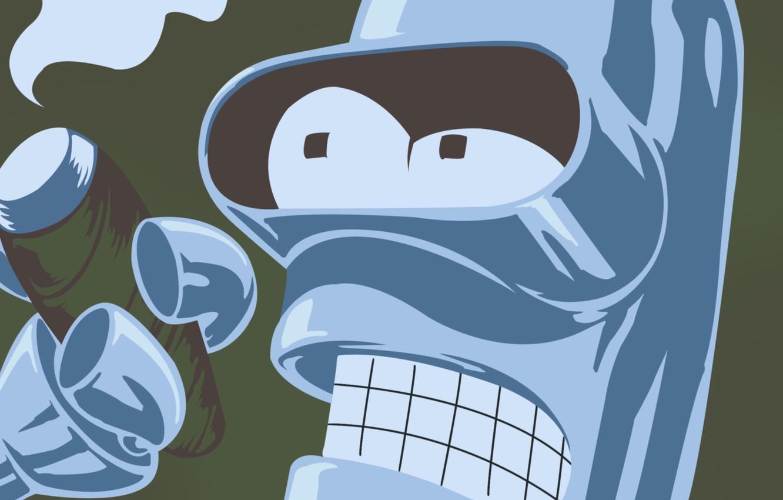 Photo wallpaper smoke, cigarette, Bender, Futurama, Futurama, Smoke, Bender, Bender Bending Rodriguez, Cigarette, Bender bending Rodriguez, bending …