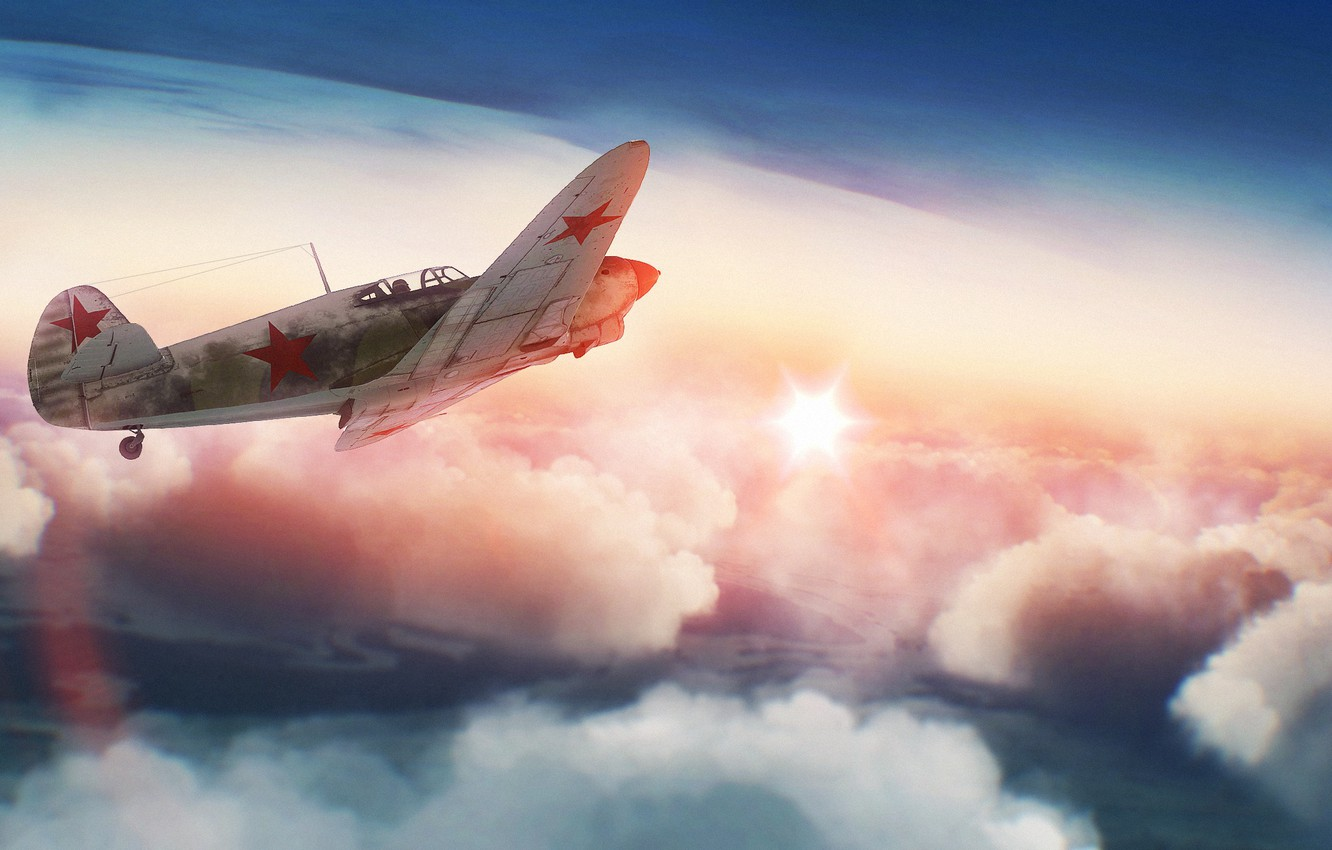 Wallpaper The Sky The Sun Clouds War Fighter Art