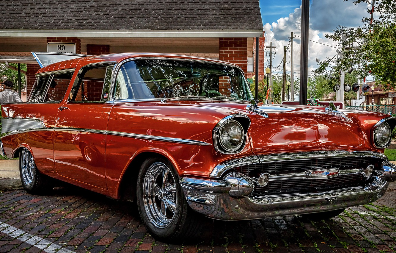 Photo wallpaper classic, universal, 1957 Chevrolet Nomad, Chevrolet Nomad