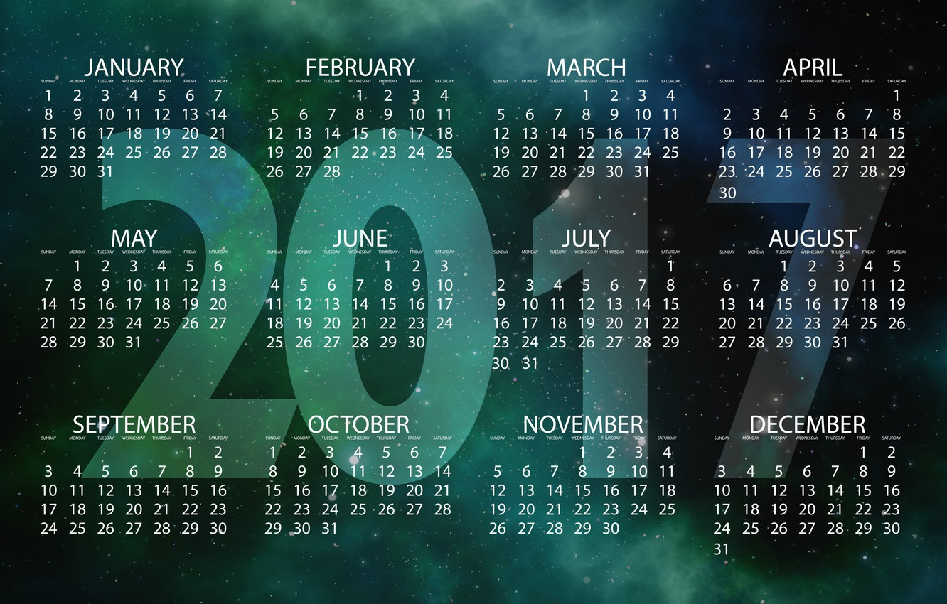 Photo wallpaper space, stars, background, the universe, graphics, new year, vector, figures, calendar, year, date, starry sky, …