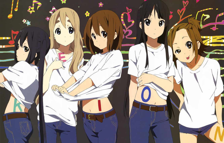 Photo wallpaper kawaii, girls, k-on, anime