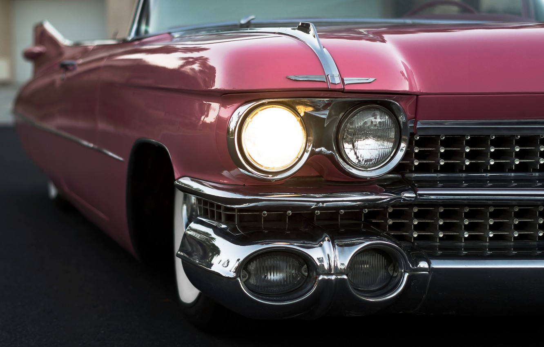 Photo wallpaper retro, lights, convertible, 1959, Cadillac Convertible