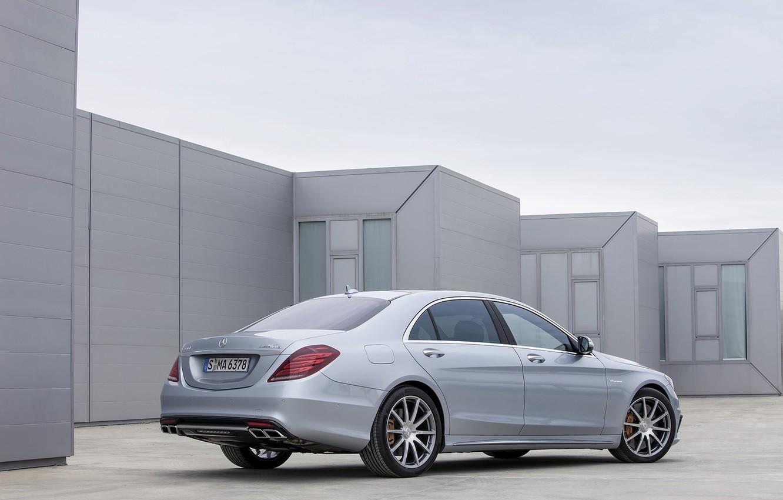 Photo wallpaper grey, Mercedes-Benz, sedan, AMG, S 63