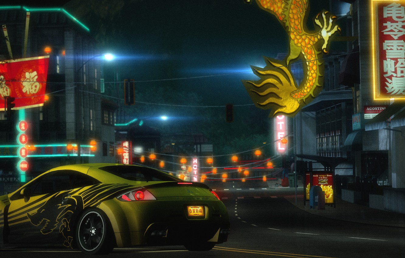Wallpaper Japan Need For Speed World Mitsubishi Eclipce Gt