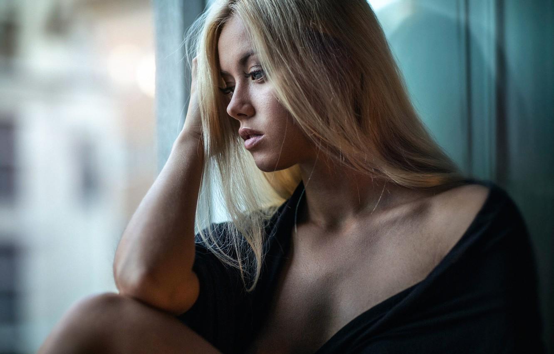 Photo wallpaper sadness, girl, sponge, the beauty, Amanda Gyllensparv