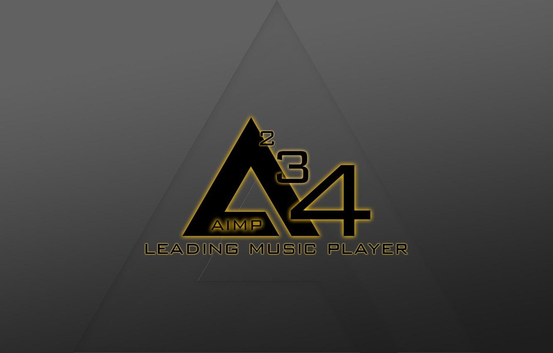 Photo wallpaper Music, Logo, Hi-Tech, Minimalism, AIMP 4