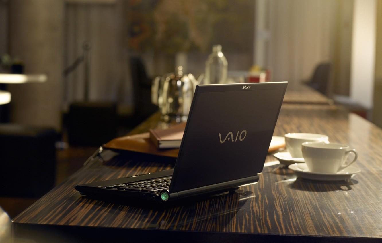 Photo wallpaper laptop, Sony, vaio