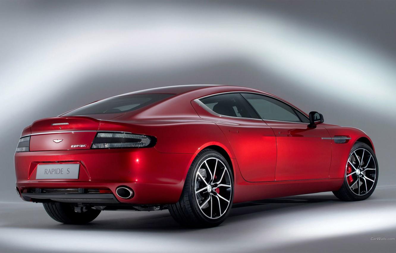 Photo wallpaper Aston Martin, Red, Rapid