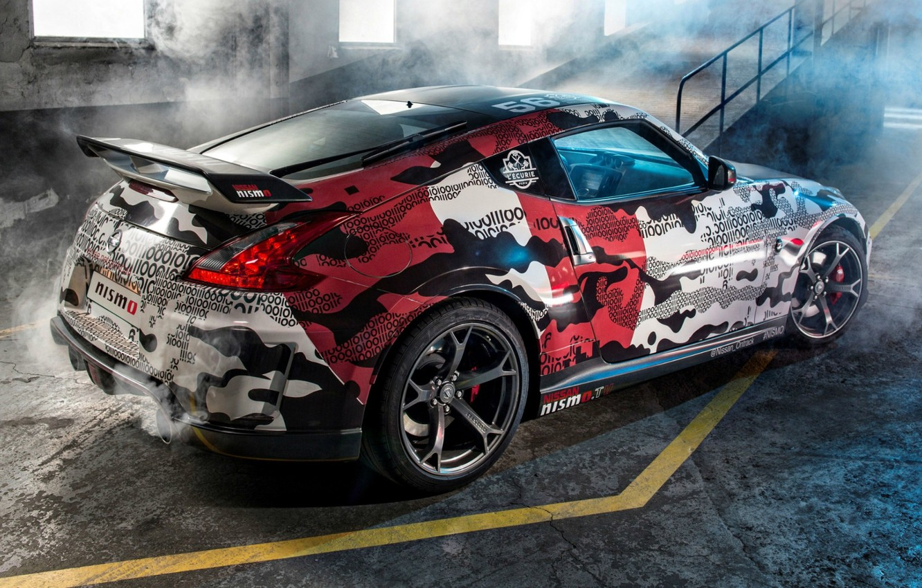 Photo wallpaper tuning, Nissan, Nissan, rear view, tuning, Rally, 370Z, NISMO, NISMO, Gumball 3000