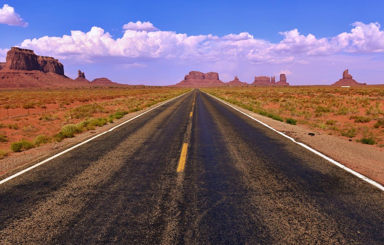 Photo wallpaper road, summer, landscape, rocks