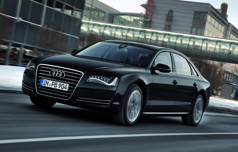 Photo wallpaper Audi, Black, Audi, Machine, A8L, Riding