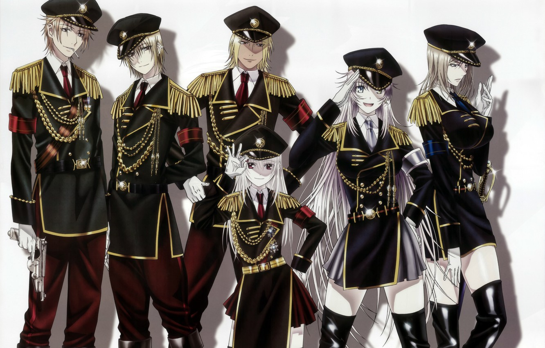 Photo wallpaper gun, white background, gloves, cap, boots, military uniform, aiguillettes, epaulettes, project key, yashiro Jesus, K …