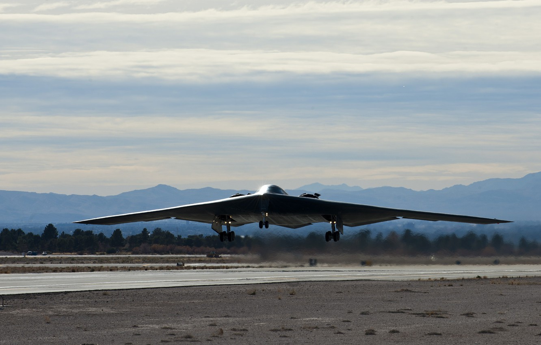 Photo wallpaper bomber, the airfield, the rise, Northrop, strategic, B-2 Spirit