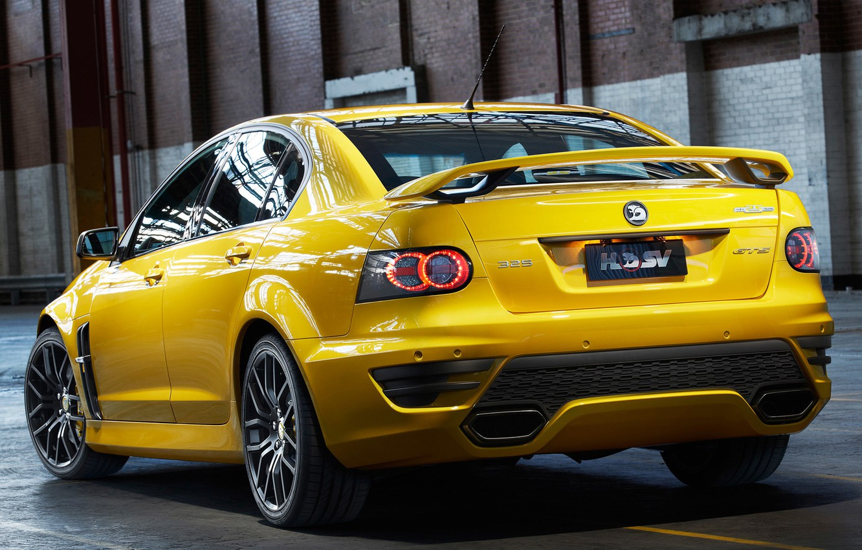 Photo wallpaper yellow, garage, yellow, garage, GTS, Holden, Holden, shed, HSV