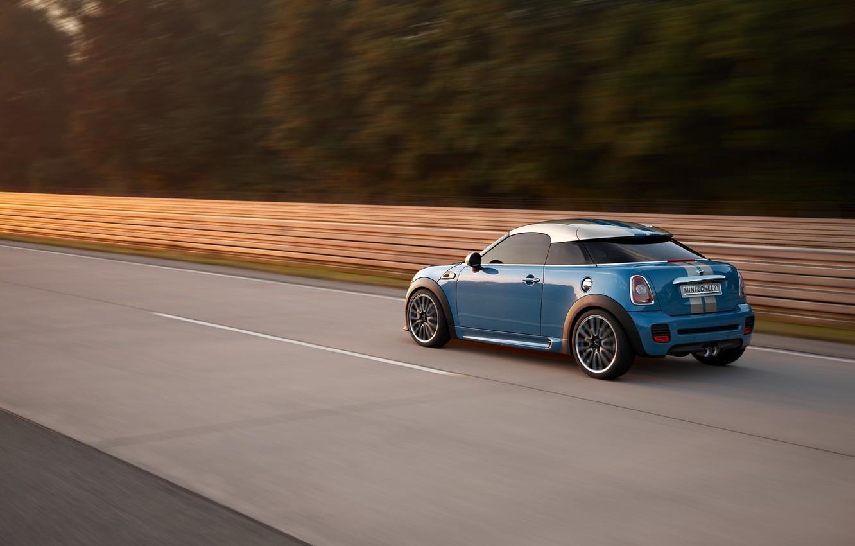 Photo wallpaper road, speed, Mini