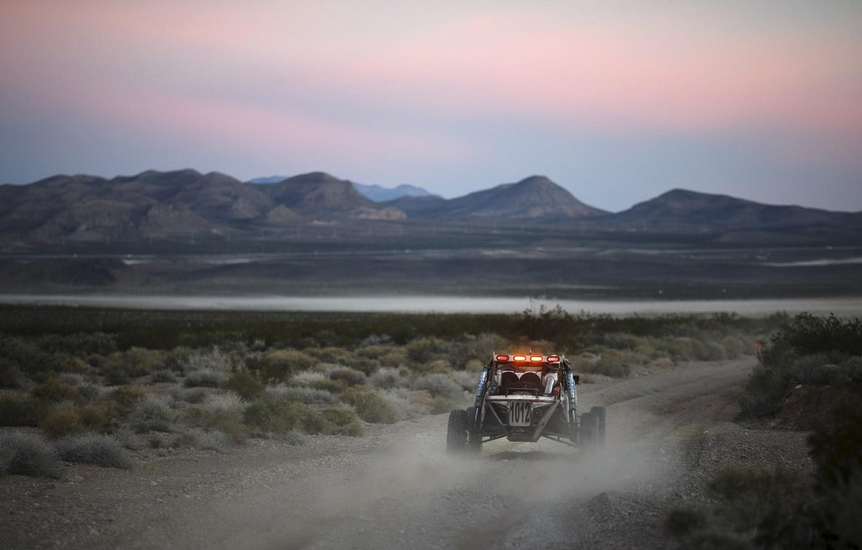 Photo wallpaper sunset, desert, desert, sunset, buggy, baggi