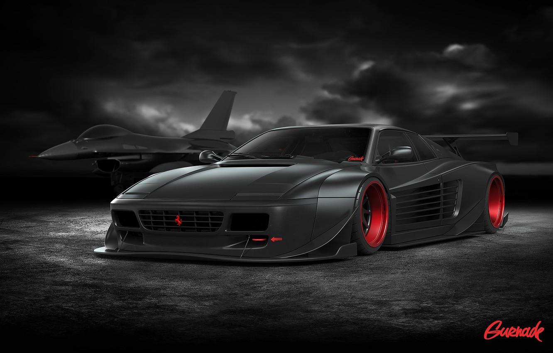 Photo wallpaper Ferrari, Cars, Tuning, Battle, Ready, by Gurnade, 512TR