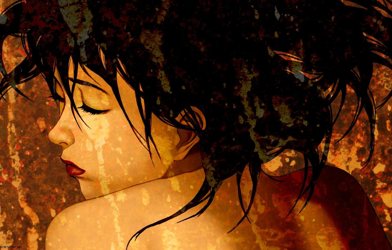 Wallpaper Face Shoulders Art Closed Eyes Satoshi Kon Images For