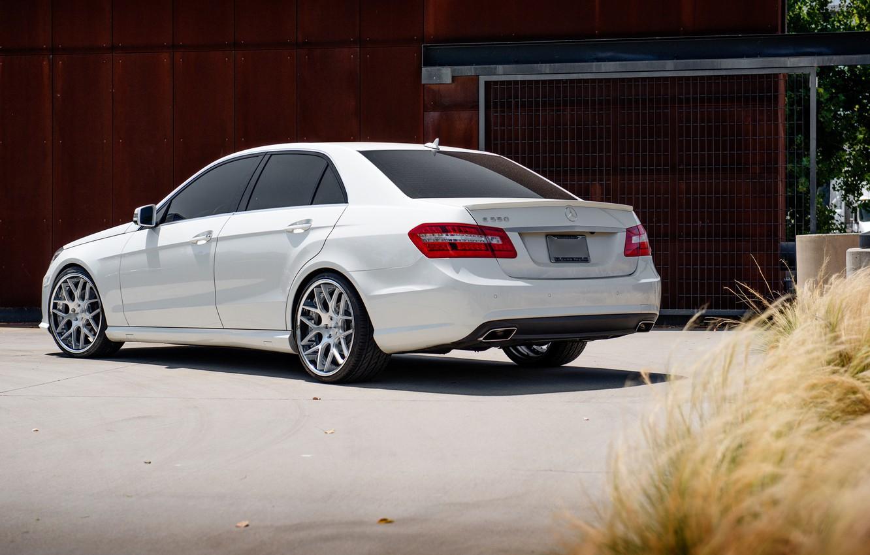 Photo wallpaper white, Mercedes, white, E-class, Mercedes, E550