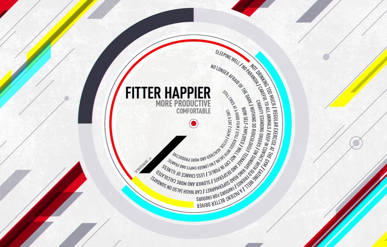 Photo wallpaper WALLPAPER, FITTER, HAPPIER, RADIOHEAD, is considered, OK Computer