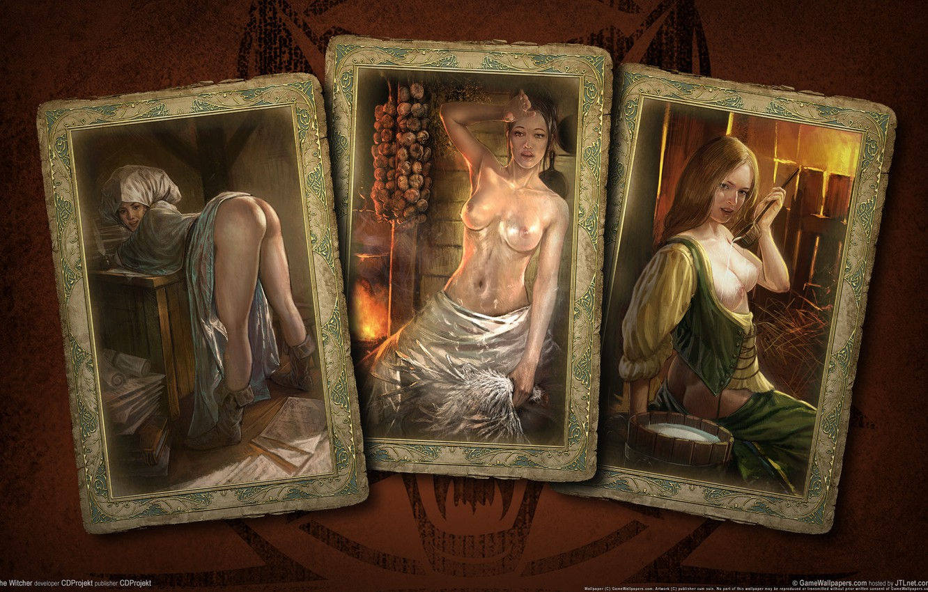 Photo wallpaper card, girls, the Witcher