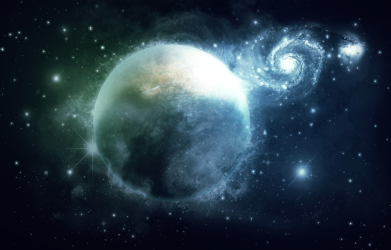 Photo wallpaper space, stars, planet, galaxy, space, 1920x1200, stars, planet, galaxy