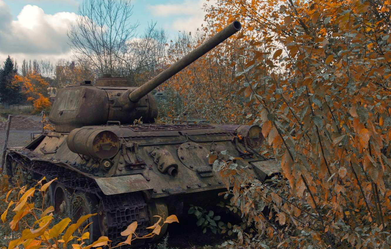 Photo wallpaper weapons, army, tank, T34