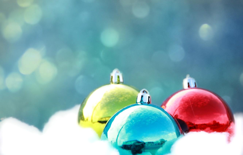 Photo wallpaper balls, Shine, color, new year, Christmas