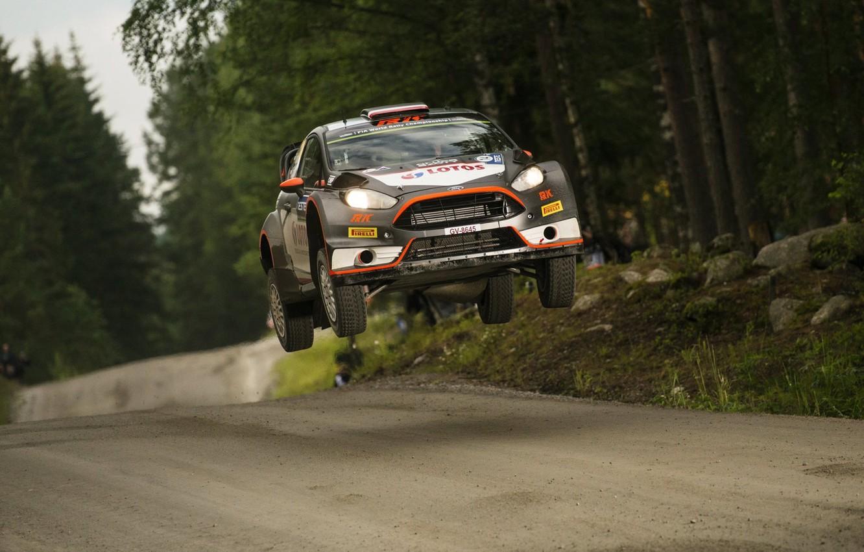 Photo wallpaper Ford, Jump, WRC, Rally, Fiesta, Kubica