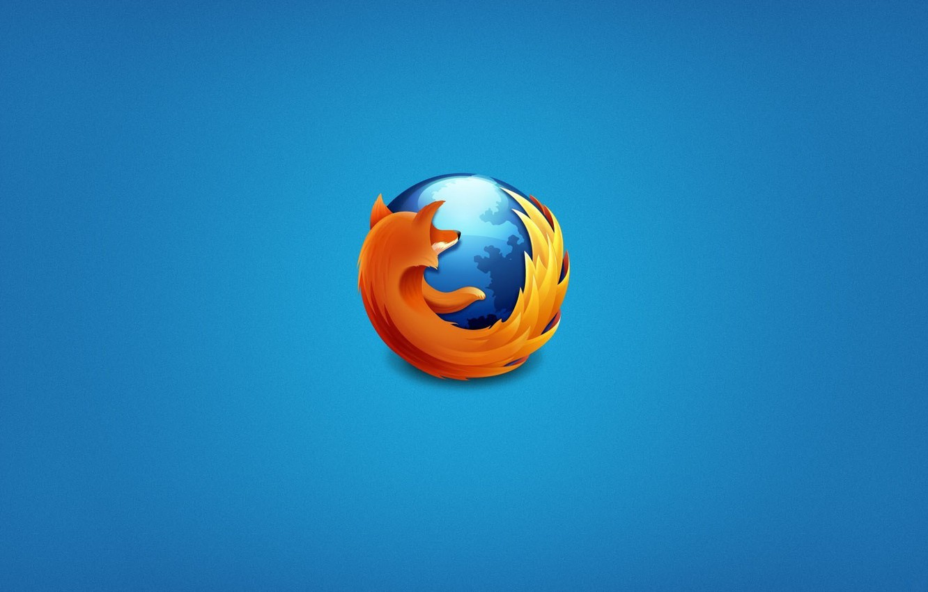 Photo wallpaper browser, mozilla firefox, blue background