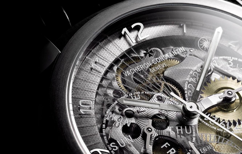 Photo wallpaper macro, watch, mechanism