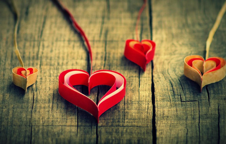 Photo wallpaper love, red, paper, background, widescreen, Wallpaper, mood, heart, heart, beautiful, wallpaper, love, heart, heart, origami, …