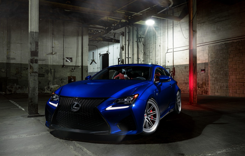 Photo wallpaper Lexus, Light, Blue, Front, Vossen, Wheels, RCF, Corors