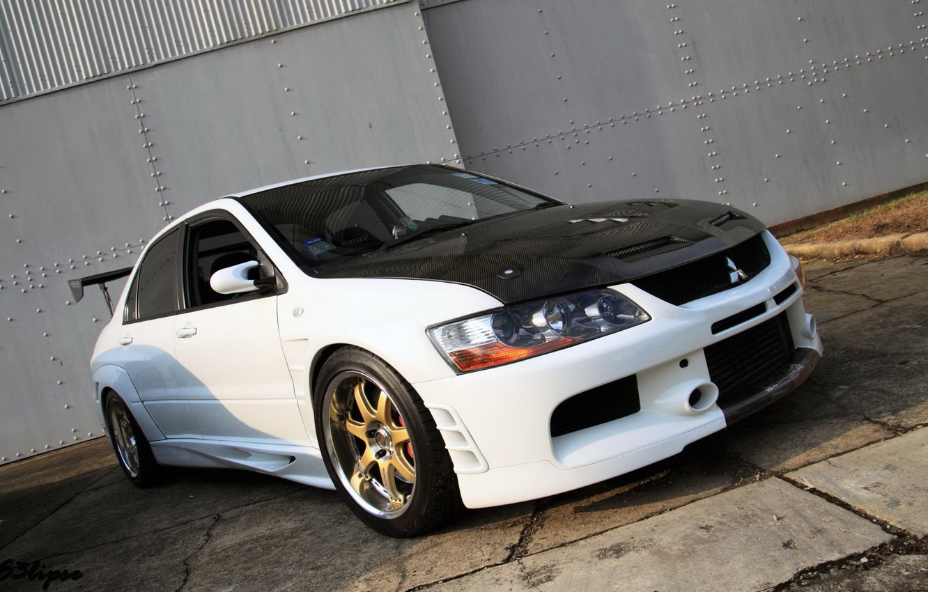 Photo wallpaper mitsubishi, lancer, evolution