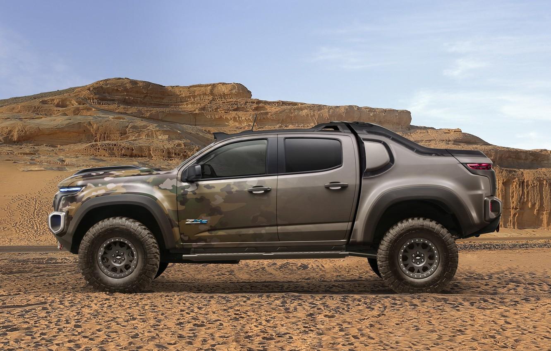Photo wallpaper car, Chevrolet, wallpaper, desert, power, sand, truck, strong, official wallpaper, technology, camouflage, suna, bold lines, …