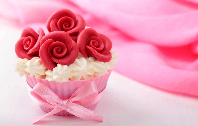 Photo wallpaper food, cake, cake, cream, dessert, food, sweet, cupcakes, cream, dessert, muffins, cupcakes