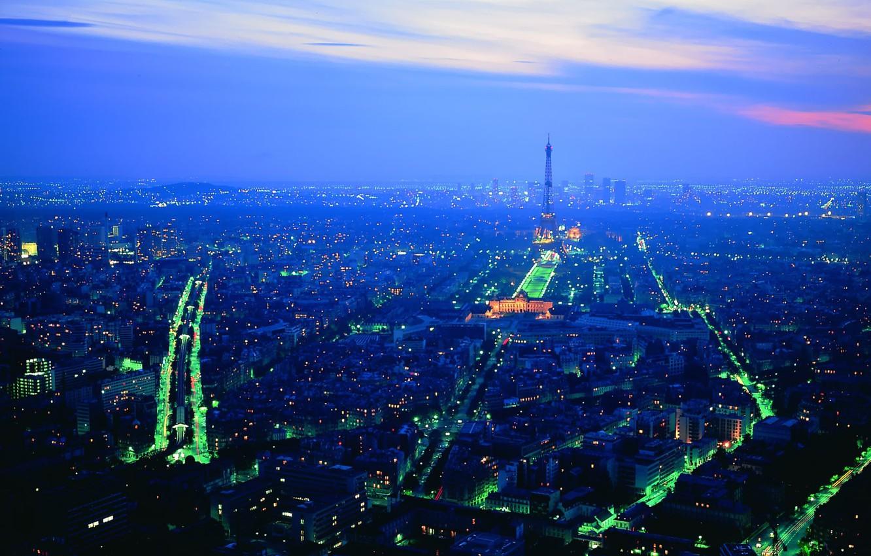 Photo wallpaper Paris, Lights, Night
