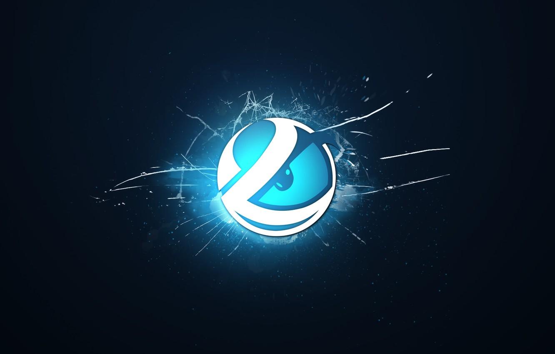 Wallpaper logo, blue background, csgo, crack, cs go