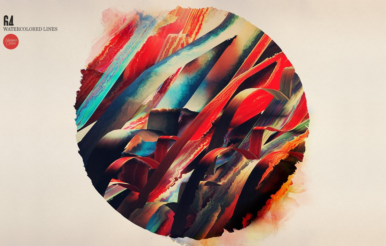 Photo wallpaper line, strip, paint, round, Abstraction