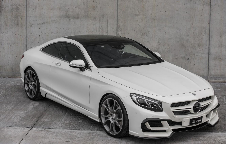 Photo wallpaper Mercedes-Benz, grey background, Design, FAB, S-Class, Ethon