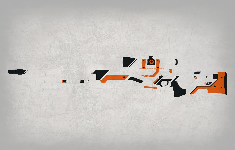 Photo wallpaper Background, Weapons, Gun, Valve, Counter Strike, Steam, Skin, Weapon, CS:GO, Global Offensive, Workshop, Asiimov, Awp