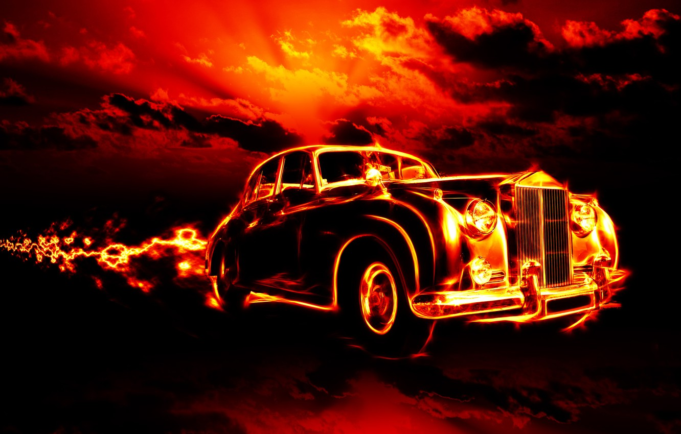 Wallpaper Car Clouds Machine City City Fire Flame Fire Flame Horror Horror Classic Smoke Clouds Classic Red Sky Images For Desktop Section Raznoe Download
