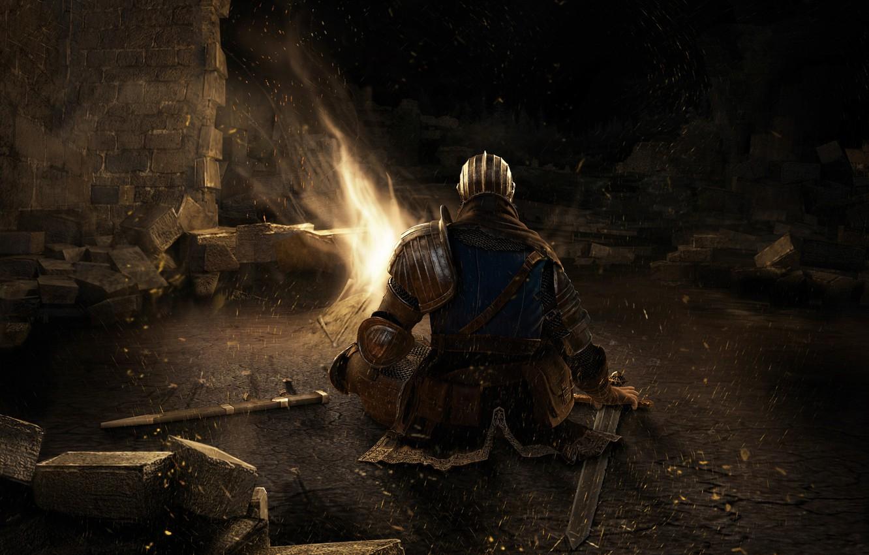 Photo wallpaper sword, knight, Dark Souls, dospehi