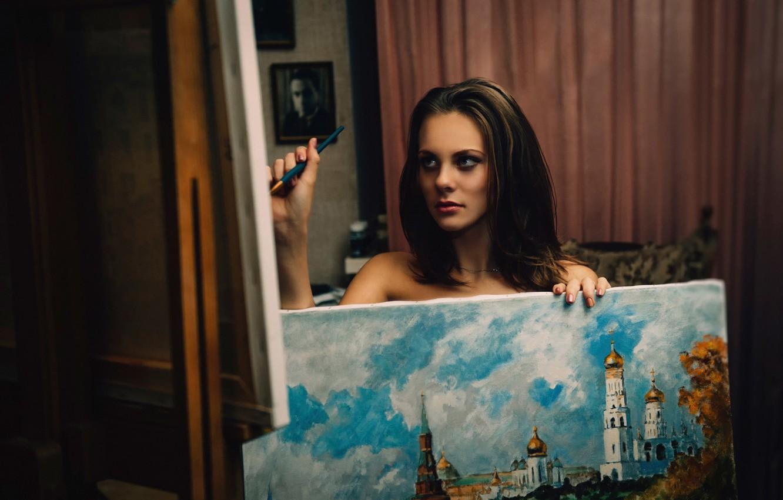 Photo wallpaper girl, picture, creativity, art